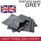 Strong GREY Postage Mailing Plastic Self Seal Polythene Bags - All Sizes