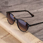 COLOSSEIN Sunglasses Women Vintage Cat Eye Coating Glasses With Polarized Frame