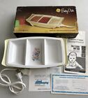 GE Heat N Serve Yellow Baby Dish w/ Original Box Instructions & Papers Vintage