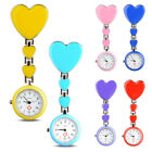 Hot Heart Shape Pendant Clip-On Brooch Fob Pocket Analog Quartz Nurse Watch SS