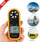 LOT 20 LCD Anemometer Air Wind Speed Gauge Test Temperature NTC Thermometer BR