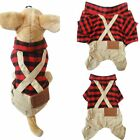 Pet Clothes for Small Dog Cat Plaid Shirts Pants Jumpsuit Apparel Smart Outfits