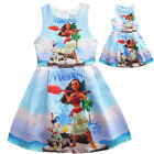Dress For Girls Kids Moana Cosplay Costume Princess Sleeveless Jumper Halloween