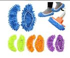 2Pcs Mop Slippers Shoes Microfiber  Floor Cleaning  House Kitchen Office Dust