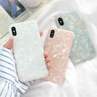 For iPhone 8 7 6 Plus XS Max XR Marble Shockproof Silicone Protective Case Cover