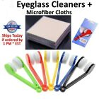 Sun Glasses Eyeglass Cleaner Microfiber Cloth Lens Wipes Brush Cleaning Kit Lot