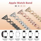 Replacement Diamond Stainless Steel Bracelet Band Strap For Apple Watch 38mm 42m