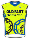 SALE $39.95 Old Fart Super Bright Cycling Jersey Mens Sleeveless Free Shipping