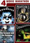 The Funhouse, Phantasm II, Sssssss, The Sepent and the Rainbow - New