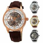 Men's Akribos XXIV AK1073 'Saturnos' Skeleton Automatic Alligator Leather Watch