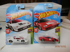 hot wheels lamorghini countach pacecar set of 2 red and white