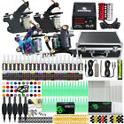 Beginner Complete Tattoo Kit 4 Machine Power Supply Set Grip 40 color Ink Needle