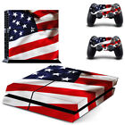 American Flag Game Cover Skin Stickers For Playstaion 4 PS4 Console Controller