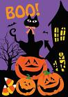 Morigins BOO Black Cat Halloween Pumpkins Castle Double Side