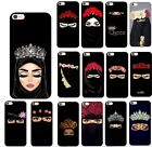 Muslim Islamic Gril Eyes Silicone Phone Case iPhone XS Max XR X 8 7 6 Plus 5