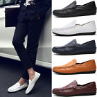Mens Slip On Patent Leather Loafer Driving Moccasin Casual Flat Boat Shoes Size