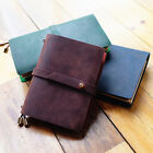 """""""Joyful Spirit"""" 1pc Real Cowhide Leather Travel Journal Business Notebook Diary"""