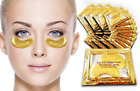 10 Pcs Crystal Collagen 24k Gold Under Eye Gel Pad Face Mask Anti Aging Wrinkle*