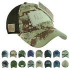US FLAG Baseball Cap Military Army Hunting Detachable Camo Trucker Mesh Dad Hat