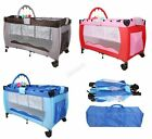 GALACTICA Portable Baby Travel Cot Bed Kids Infant Playpen Bassinet BCB01