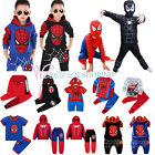 Kinder Spiderman Trainingsanzug Jungen Sweatshirt Hoodie Hose Set Cosplay Kostüm