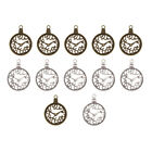 12Pcs Assorted Clock Watches Charms Pendants Jewelry Finding DIY Accessories