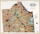 """HP 20"""" x 24"""" 1989 Map Of Sussex Delaware Land Use"""
