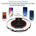 Qi Wireless Charger Slim Charge Pad For Galaxy Note 9 S9 S8 iPhone Xs Max Xr PR1