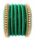 Women's Green Silk Thread Bangle set