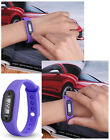 Run Watch Bracelet Pedometer Calorie Counter Digital LCD Walking Distance US