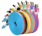 1M2M3M/3FT6FT10FT Flat Noodle Micro USB Data Charger Cable For Samsung Wholesale