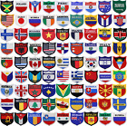 "World Flags Embroidered Patch Shield.Great for gifts, apparel, and display(2.5"")"