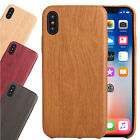 For Apple Phone XS Ultra Slim Soft TPU Natural Wooden Pattern Luxury Thin Cover