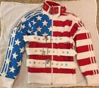 Adidas Originals ObyO Jeremy Scott Stars & Stripes Track Top Jacket Belts Locks