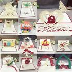 1pcs Handmade 3D Laser Cut Paper Greeting Pop Up Card Wedding Invitation Valenti