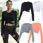Women's Sports Tops Crave Sleeve T-Shirt Fitness Gym Yoga Crop Top Activewear G11