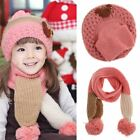 Baby Hat Scarf Set Baby Cap Hats for Girls Kids Children Winter Warm Knit Childr