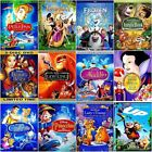 Lot of 12 Disney DVDs: Beauty and the Beast,Aladdin,Snow White,Frozen,Peter Pan.