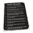 Dog Rules Metal Sign; Wall Decor for Office or Meeting Room