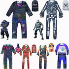 Fortnite Spiele Halloween Party Kostüm Jumpsuit Overall Cosplay Kinder Outfits