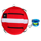 Floating Scuba Diving Freediving Buoy Marker Float & Finger Reel Tech Spool