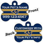 Los Angeles Rams Double Sided Pet Id Dog Tag Personalized for Your Pet $11.67 USD on eBay