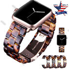 Tortoise shell Lines Belt Strap For Apple Watch 38 40 42 44 Band Series 4 3 2 1 image