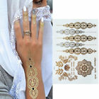 Внешний вид - Boho Silver Gold Henna Metallic Flash Bindi Temporary Tattoos Sticker Bohemian