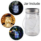 Solar Mason Jar Lid Lights Kit 20 LED Night Fairy String Lights Party Xmas Decor
