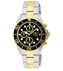 Invicta Pro Diver Men's Gold Stainless Black Dial Chronograph Watch 1772 43mm image