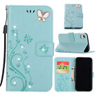 For iPhone XS Max Magnet Butterfly Diamond Leather Case Wallet Card Stand Cover