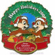 Disney Pin 65982 DLR Grand Californian Hotel Holiday Wreath Chip Dale LE 1000 *