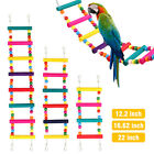 Pet Bird Swing Wooden Ladder Bridge Climb Cockatiel Parakeet Budgie Parrot Toy
