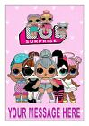 LOL DOLLS  NO 2  BIRTHDAY   CAKE TOPPER EDIBLE ICING SHEET A4 PERSONALISED
